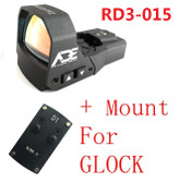 Ade RD3-015 Zantitium RED Dot Reflex Sight for GLOCK 17 19 20 22 26 ect pistols