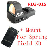 Ade RD3-015 Zantitium RED Dot Reflex Sight for Springfield XD XDs Pistol
