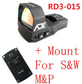 Ade RD3-015 Zantitium RED Dot Reflex Sight for Smith Wesson SD9 SIGMA SD SW40VE SD40 MP SD40VE