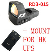 Ade Advanced Optics RD3-015 Waterproof RED Dot Reflex Sight Pistol for HK UPS