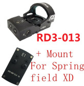 Ade RD3-013 Bertrillium RED Dot Reflex Sight for Springfield XD XDs Pistol