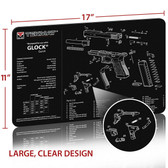 "GLOCK Handgun Gun Cleaning Mat 11""x17"" with Parts Schematic Mouse Pad"
