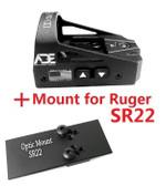 Ade Advanced Optics Delta RD3-012 Red Dot Reflex Sight for Ruger SR22 Pistol …