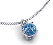 Blue Topaz 4mm Brilliant Cut