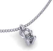 Princess Cut 0.30ct Diamond Pendant