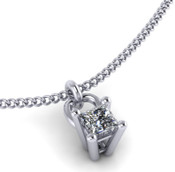Princess Cut 0.40ct Diamond Pendant