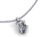 Princess Cut 0.50ct Diamond Pendant