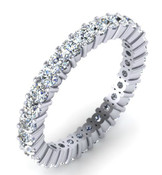 Full Brilliant Cut Eternity Ring Claw Set 2.4mm