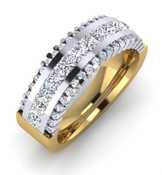 3 Row Eternity Style Band