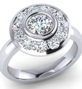 Space Ship Style Engagement Ring