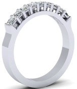 Princess Cut Hi Top Eternity Ring