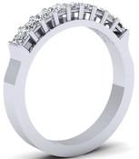 Princess Cut Hi Top Eternity Ring