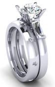Engagement Ring Wedding Set Brilliant Cut
