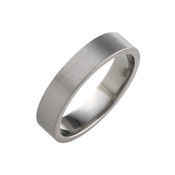 Titanium 5mm Flat Ring with Flat Sides