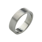 Titanium 6mm Flat Ring with Flat Sides