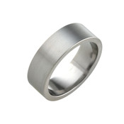 Titanium 7mm Flat Ring with Flat Sides