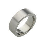 Titanium 8mm Flat Ring with Flat Sides