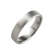 Titanium 5mm Court Ring with Curved Sides