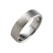 Titanium 6mm Court Ring with Curved Sides