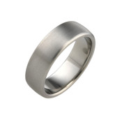 Titanium 7 mm Court Ring with Curved Sides