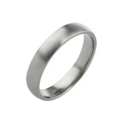 Titanium 4mm Court Ring with Flat Sides