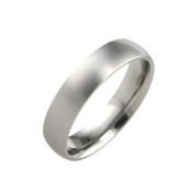Titanium 5mm Court Ring with Flat Sides