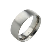Titanium 8mm Court Ring with Flat Sides