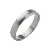 Titanium 4mm D Shape Ring with Flat Sides