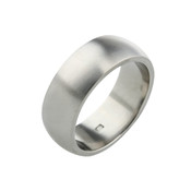 Titanium 8mm D Shape Ring with Flat Sides