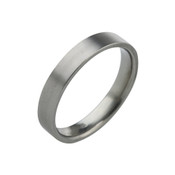 Titanium 4mm Flat Top Court ring with Flat Sides