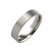 Titanium 5mm Flat top Court Ring with Flat Sides