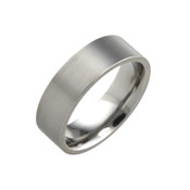 Titanium 7mm Flat Top Court Ring with Flat Sides
