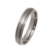 Titanium 4mm Rounded Design Ring