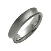 Titanium 6mm Concave Ring