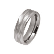 Titanium 6mm Wave Ring
