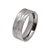Titanium 8mm Wave Ring