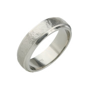 Titanium 6mm Sandstone Ring with Dropped Edges
