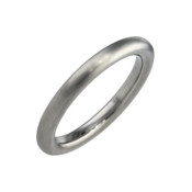 Titanium 2.5mm Court Shape Plain Ring
