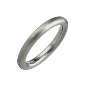 Titanium 3mm Court Shape Plain Ring