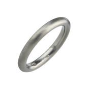 Titanium 3mm Court Shape Plain Ring