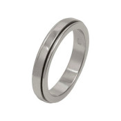 Titanium 4mm Flat Designed Ring with Dropped Edges