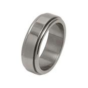 Titanium 8mm Flat Designed Ring with Dropped Edges