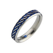 Titanium 8mm Design with Blue Pattern