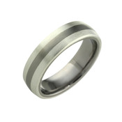 Silver and Titanium 6mm Ring