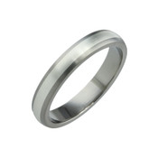 Titanium and Silver 4mm Ring