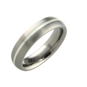 Titanium and Silver 6mm Ring 802