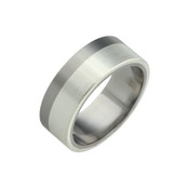Titanium and Silver 8mm Ring LR829