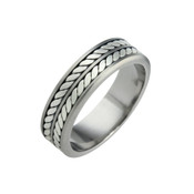 Titanium 8mm Flat Two Colour Ring