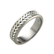 Titanium 6mm Flat Two Colour Ring LR808
