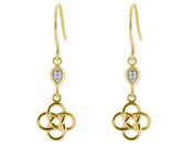 9ct Yellow Celtic Knot Earrings